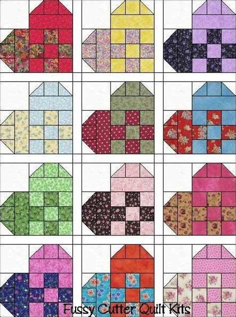 Fussy Cutter Quilt Kits by Hearts Scrappy Calico Patch Fabric Pre Cut Quilt Top