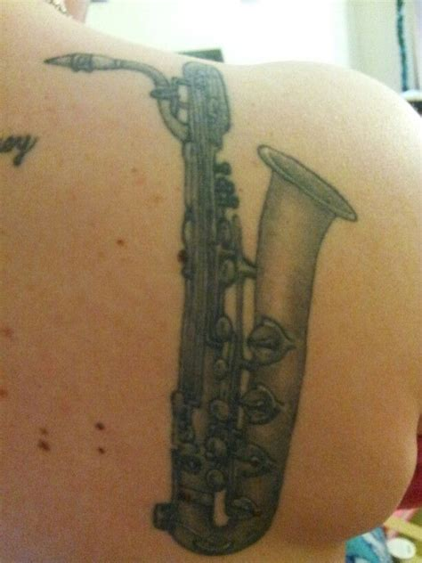 saxophone tattoo baritone sax tattoos current and ideas