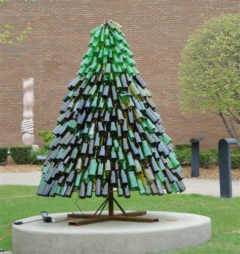 wine bottle christmas tree misc pinterest