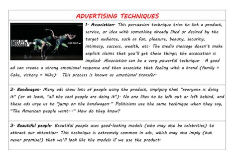 essay structure guide ks3 ks3 english advertising techniques a list of