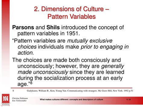 pattern variables nach parsons ppt what makes cultures different concepts and