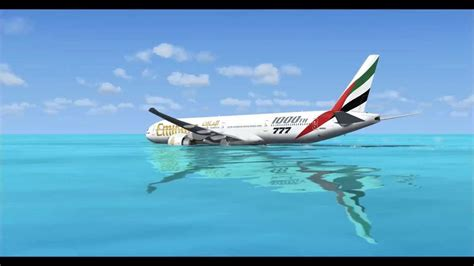 emirates water emirates emergency water landing youtube