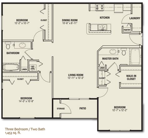 floor plan for 3 bedroom flat three bedroom apartment in lake florida