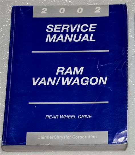 free service manuals online 2002 dodge ram van 1500 transmission control 2002 dodge ram van wagon factory service manual b 1500 2500 3500 original shop repair