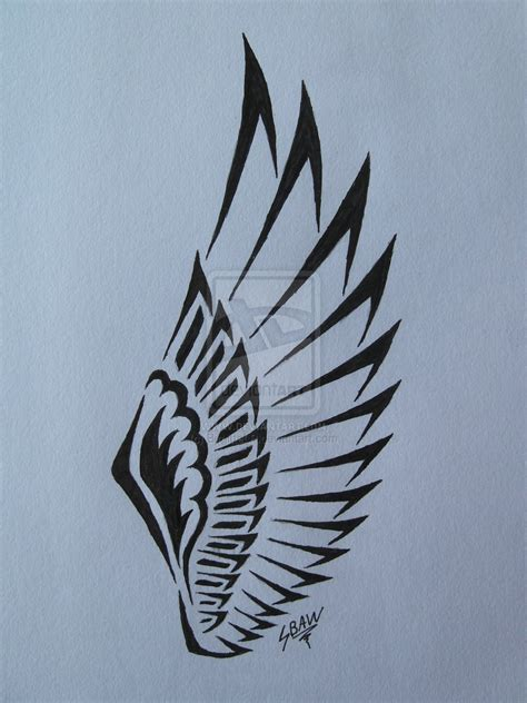 tattoo tribal wings tribal wing tattoo by lostamongstars on deviantart
