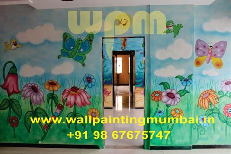 Wall Murals In Mumbai Play School Wall Painting Play School Classroom Best Wall