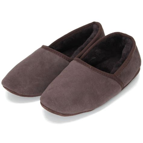 mens slippers soft sole deluxe mens noah sheepskin slippers with soft sole chocolate