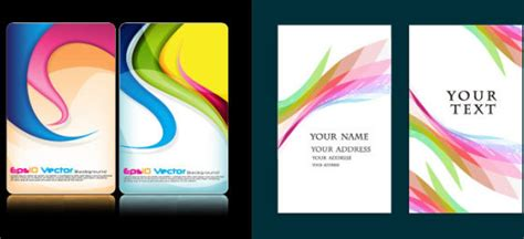 id card background design free download colorful card background design elements free vector in