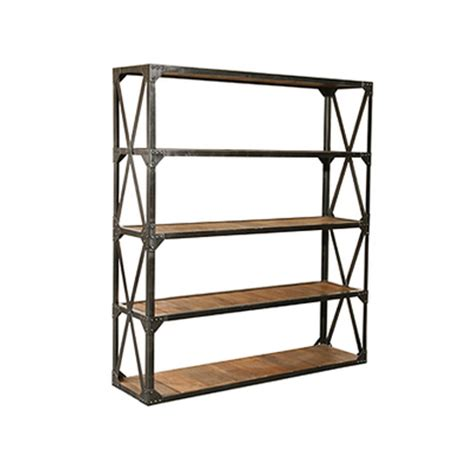 Metal And Reclaimed Wood Bookcase vintage industrial reclaimed wood metal bookcase bookshelf