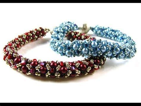 miyuki net pattern bracelet instructions tubular netted pearl bracelet with miyuki hex beads seed