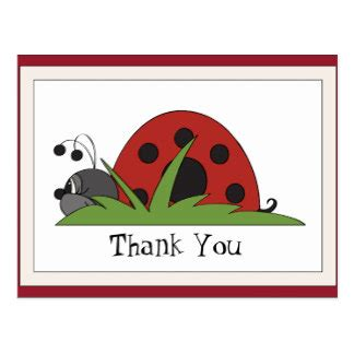 ladybug thank you card templates ladybug thank you cards photo card templates invitations