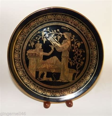 Handmade In Greece - decorative plate 24k gold handmade from i