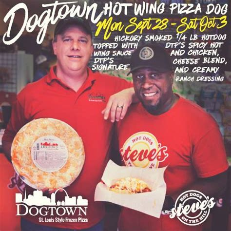 steves dogs wing pizza dtp teams up with steve s dogs