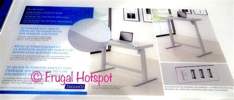 tresanti adjustable height desk reviews costco sale tresanti adjustable height desk 199 99