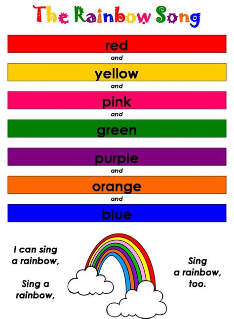 color songs for toddlers rainbow lullaby francisco easyenglishforall baby