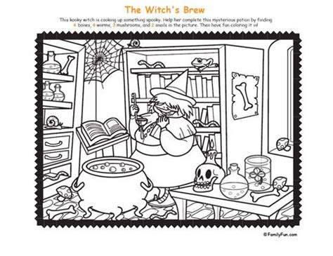 printable hidden pictures halloween hidden picture coloring page witch s brewbrew