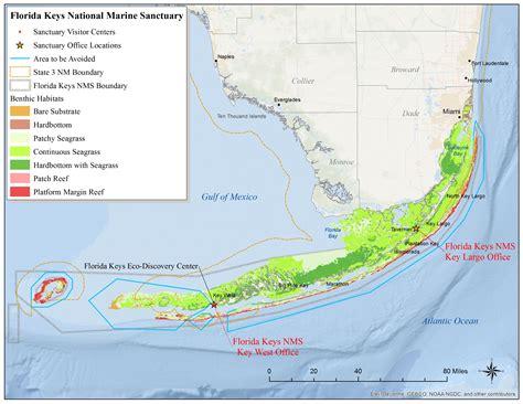 islamorada map florida map national marine sanctuaries