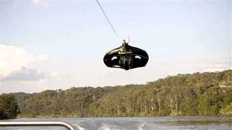 flying boat tube video manta ray flying ski tube kory quot chook quot little youtube