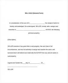general bill of sale template 7 sle general bill of sale forms sle forms