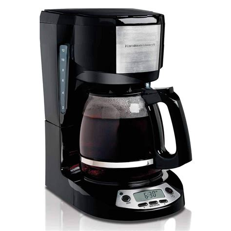 Kitchen Collection Free Shipping by Hamilton Beach Coffee Maker With Clock 12 Cup 49615