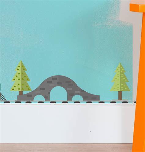 Train Wall Stickers train set vinyl wall sticker by oakdene designs