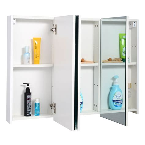 Bathroom Mirrored Medicine Cabinet 3 Mirror Door 36 Quot 20 Quot Wide Wall Mount Mirrored Bathroom Medicine Cabinet Storage