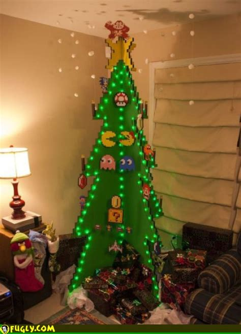 gamer christmas tree fugly
