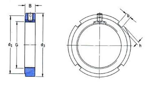 Bearing Lock Nut An 05 Asb skf kmk8 lock nut with integral locking device m40x1 5mm simply bearings ltd