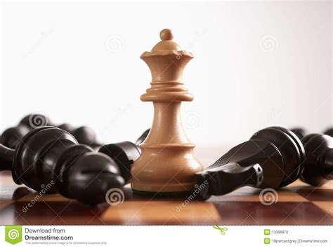 chess  queen wins  game stock photo image