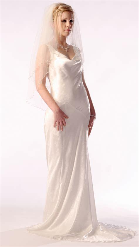 cowl neck bias cut bridal gown dancedresscom