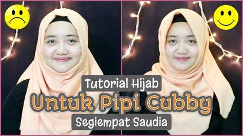 tutorial berhijab untuk wajah kotak tutorial hijab untuk wajah bulat atau pipi cubby dengan