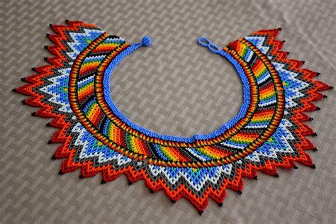 Aboriginal Handmade Jewellery - glass bead necklace bn542 colibri