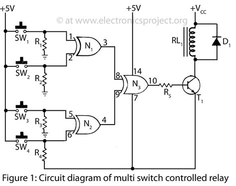 one l controlled by one switch circuit diagram k