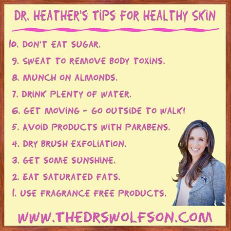 5 Nutritious Tips For Healthy Skin by Dr S Tips For Healthy Skin