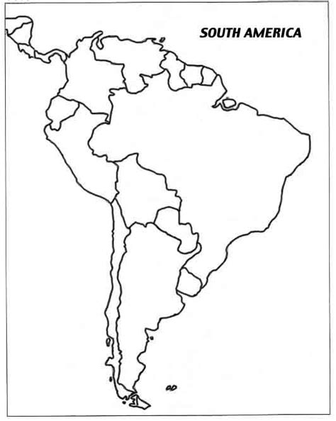 south america map outline blank america