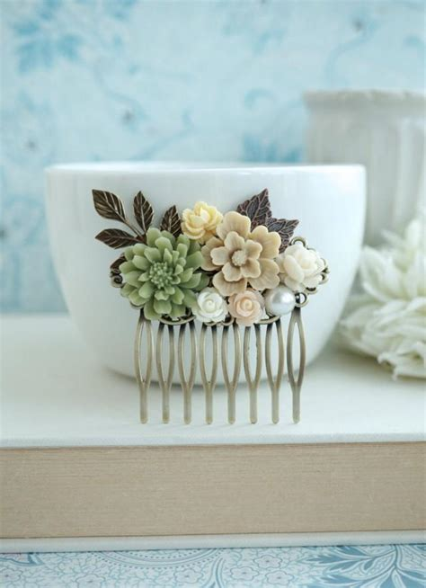 By Nature Launches Eco Wedding Gift List by Fall Shabby Wedding Comb Nature Brown Green Rustic