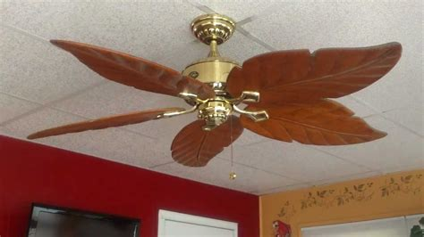 hton bay palm beach fan 52 quot hton bay antiqua ceiling fan youtube