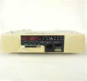 Kitchen Clock Radio Under Cabinet ge spacemaker cassette clock radio under cabinet 7 4285a