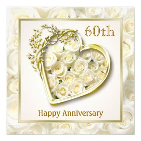 white roses and heart 60th wedding anniversary 5 25x5 25