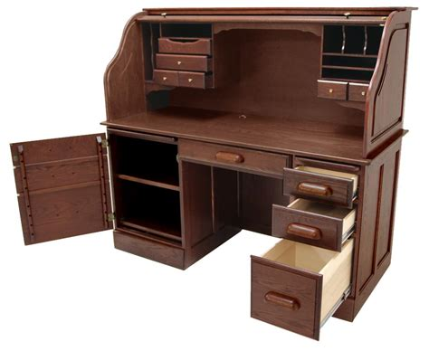 oak roll top computer desk solid oak rolltop computer desk in cherry finish in stock