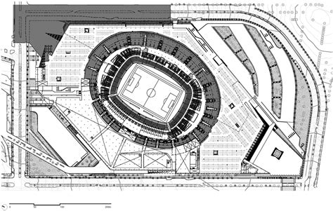 stadium floor plan mineir 227 o stadium renovation by bcmf arquitetos