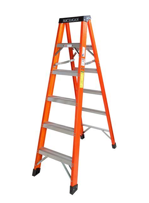 michigan ladder 6 foot fiberglass step ladder type 1a 300 lb rating shop your way online