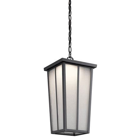 Kichler Led Outdoor Lighting Kichler 49626bktled Valley Textured Black Led Outdoor Lighting Pendant Kic 49626bktled