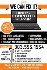 Computer Repair Business Flyer Templates