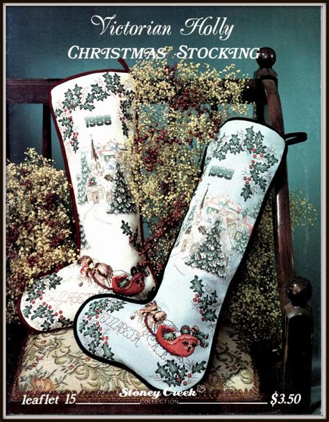 pattern for victorian christmas stocking victorian holly christmas stocking cross stitch pattern horse