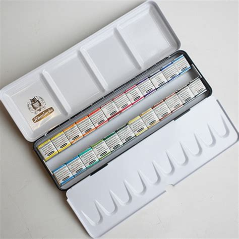 schmincke watercolor schmincke horadam watercolor metal tin set of 24 half pans