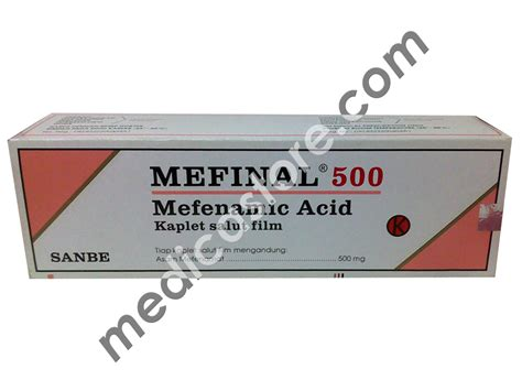 Obat Mefinal 500 Mg mefinal caplet 500 mg