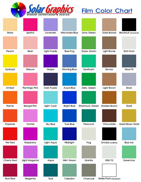 color chart automotive paint color charts autos weblog