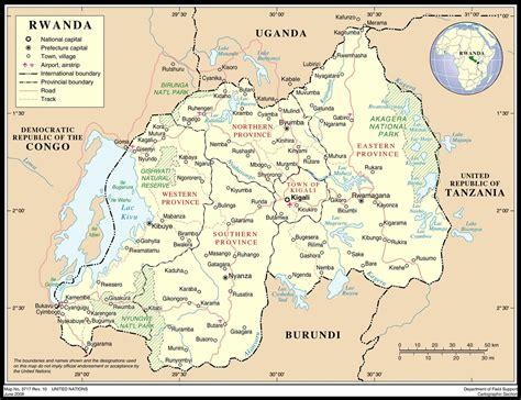 rwanda map rwanda