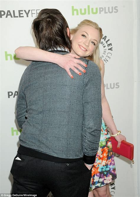 emily kinney real age the walking dead s norman reedus with emily kinney after